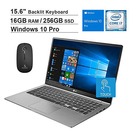 2020 LG Gram 15.6 Inch FHD 1080P Touchscreen Business Laptop, Intel Core i7-8565U up to 4.6GHz, 16GB RAM, 256GB SSD,...
