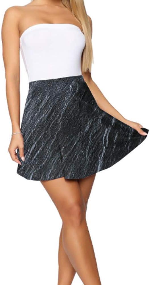 High Waist Mini Skirts for Women Beautiful Irregular of Granite Skater Skirt for Teen Girls Women's Basic Casual Skater Mini Skirt S-XL