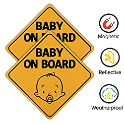 Hyber&Cara Baby On Board Sign