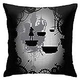 Alice In Limbo - Funda de almohada decorativa para sofá...