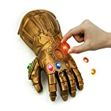 FANREK Kids Infinity Gauntlet with Removable Gems Thanos Gloves LED Arm Cosplay Prop Toys