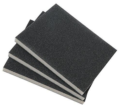 kwb 3-tlg. Schleifschwamm-Set mit feiner, mittlerer & grober Körnung für Holz und Metall – Schleif-Papier trocken und nass einsetzbar