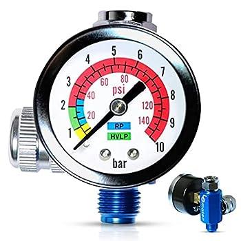 LE Lematec AR-01 Air Compressor Regulator ¼ NPT Air Pressure Regulator with Gauge 0-150 PSI