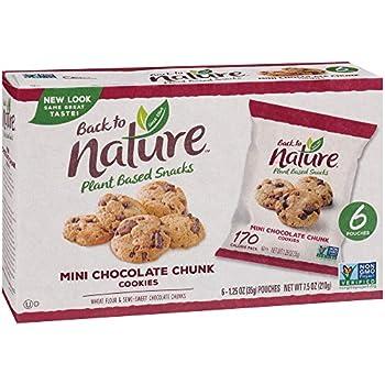 Back to Nature Cookies Non-GMO Mini Chocolate Chunk 6 Count
