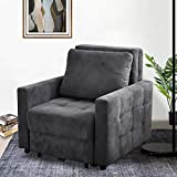 IPKIG Convertible Chair Sleeper Bed, Pull Out Sleeper Chair Armchair Bed with...