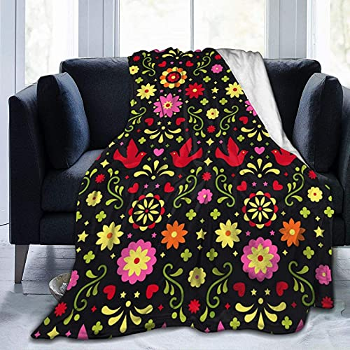 Fleece Blanket Throw Blanket, Leaf Print Soft Blanket Plush Fluffy Blanket Warm Cozy Perfect Throw for All Seasons for Couch Bed Sofa