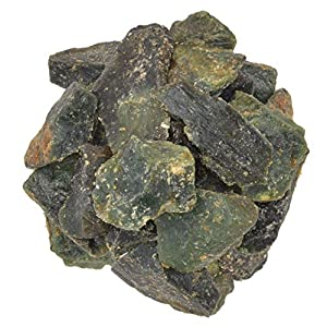 Green Serpentine Rough Stones from India
