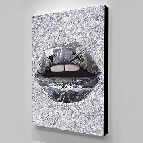 NIMCG Impresiones en Lienzo Cuadro Pintura de Pared Color de Roca Lápiz Labial Decoración para el hogar Carteles e Impresiones Pared Cuadros (Sin Marco) 30x40CM