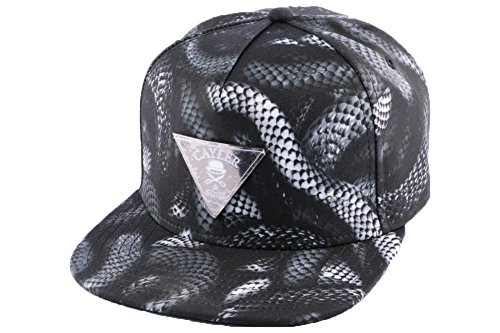 Cayler And Sons - Casquette Snapback Homme Milano 2Tone Cap - Black/Black Snakes