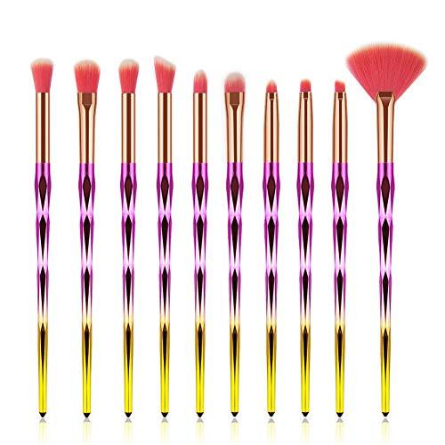 Pinceaux de maquillage Pinceaux cosmétiques Ensemble d'outils pour les amateurs de maquillage Fards à paupières multifonctions Fondation Poudre Liquide Brosses souples avec sacs de rangement en PVC