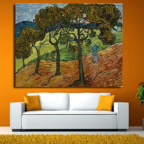 YHZSML Impresionista Van Gogh Masterpieces Tree Abstract Landscape Art Picture Wall Canvas Painting Home Decoration Wall Art Prints 50X65CM