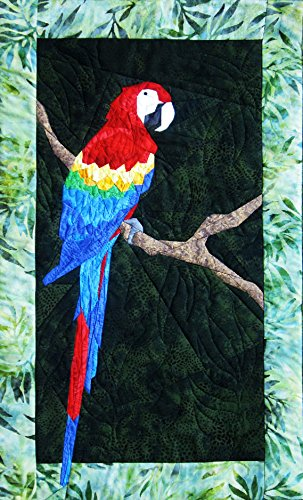 Picture Piecing Parrot - New Form of Foundation Paper Piecing Pattern - 16' x 26' Quilt Block