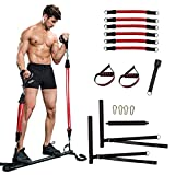 ZOVOTA Pilates Bar Set with 6 Resistance Bands Portable Home 180 lbs Training Exercise Equipment Gym...