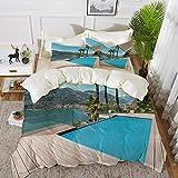 ropa de cama - Juego de funda nórdica, decoración de la casa, hermoso patio...