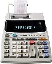 $50 » Sharp EL-1801V Ink Printing Calculator, Fluorescent Display, AC, Off-White (Renewed)