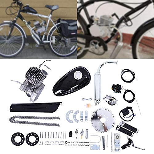 Kit de motor de bicicleta, 80cc Bicicleta 2-Stroke Gasolina Gas Motorizado Kit Motores Bicicletas Motorizadas…