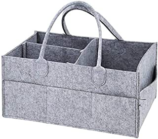 SKY-TOUCH Baby Diaper Caddy Organizer Tote Bag - Baby Shower Gift Basket | Nursery Storage Bin for Changing Table | Portab...