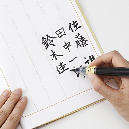 ぺんてる筆ペンぺんてる筆和紙用XFL2W黒