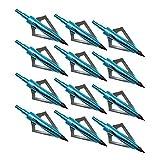 Sinbadteck Hunting Broadheads, 12PCS 3 Blades Archery Broadheads 100 Grain...