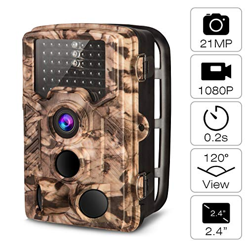 AIMTOM 21MP 1080P Game Camera 0.2S Fast Trigger Time 120° Wide Angle 2.4' LCD Screen Waterproof 65...
