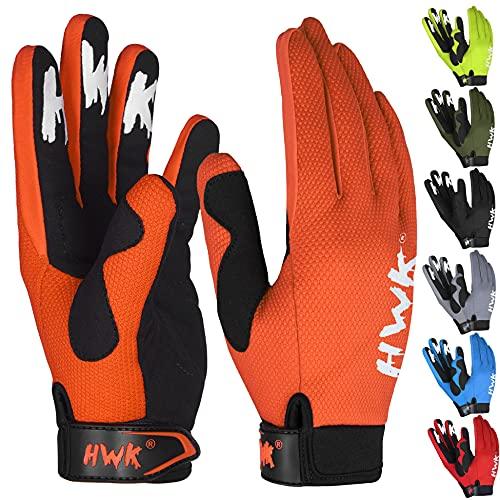 HWK Guantes de motocicleta para hombres y mujeres Motocross Equitación, Conducción Táctica, Ciclismo, Moto Racing, Guantes multiusos...