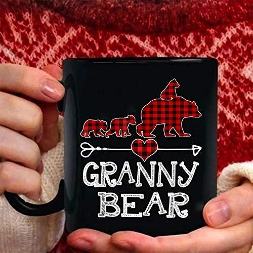 Granny Bear Christmas Coffee Mug Taza de 11 oz