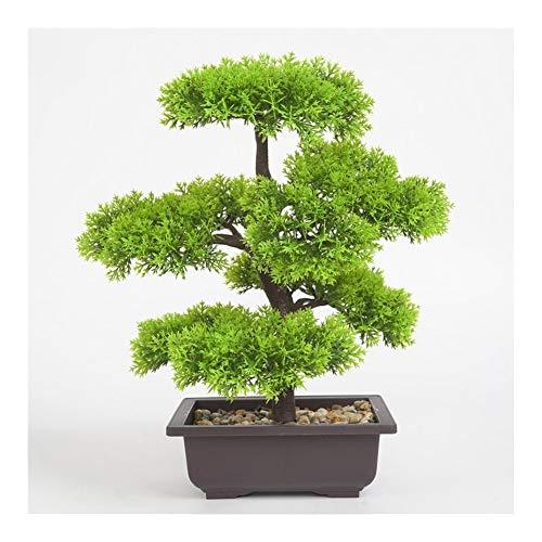 LIBILAA Kunstplanten Pine Bonsai Kleine Boom Pot Planten Nep Bloemen Potten Ornamenten Voor Thuisdecoratie Hotel Tuindecoratie