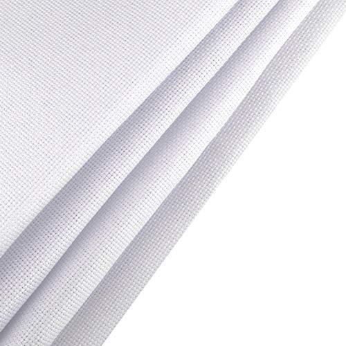 SAVITA Tela De Punto De Cruz De 150 * 100cm, Tela De Costura Blanca De 14 Hilos, Tela De Bordado De Color Sólido, Para Decoración De Bordado De Bricolaje En Casa