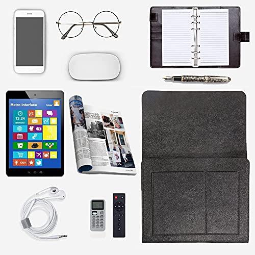 Bolsa de fieltro para mesita de noche, cama de dormitorio y bolsa colgante con bolsillos, organizador para sofá cama con 5 compartimentos, para guardar teléfonos móviles,libros,gafas,mando distancia