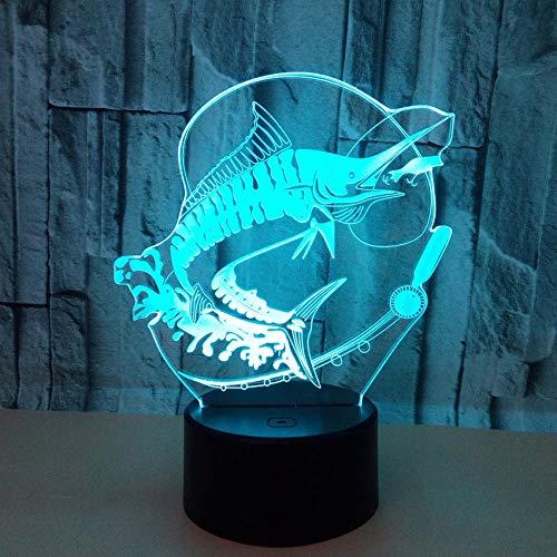Creatieve vissen, 3D, innovatieve gadget, LED-usb-lamp, optische bron, acryl, energiebesparend, bureau-romantisch cadeau, decoratie