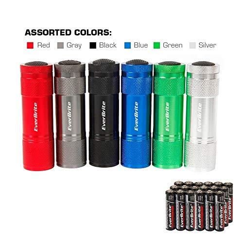 Everbrite Linterna LED de aluminio para camping, luz de verano afuera, linterna de 6 LED, 6 unidades