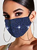 Handcess Sparkly Crystal Mesh Mask Glitter Rhinestone Masquerade Ball Party Nightclub Face Masks...