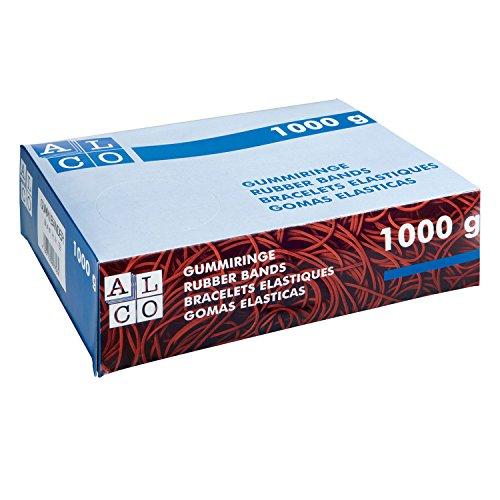ALCO-Albert 762 Gummibänder, 150 x 4 mm, 1 kg, rot