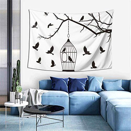 N\A Tapiz de decoración de Pared - Tapiz de Arte Hippie de pájaro Adesivo para Colgar en la Pared - Manteles Extra Grandes para Dormitorio, Sala de Estar, Dormitorio, decoración del hogar