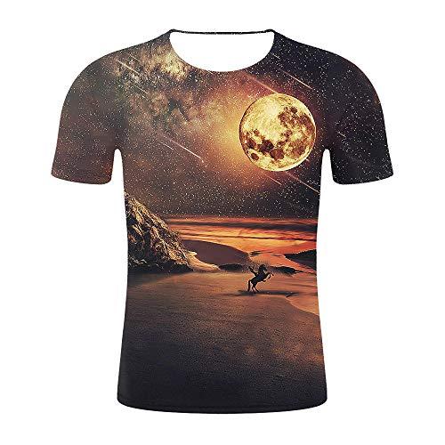 Abbigliamento Uomo3D T-Shirt 3D A Maniche Corte Animale Astratto Cielo Stellato Stampa Digitale Top-Come Mostrato in_3XL