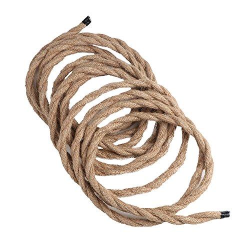 cable trenzado de alambre de cobre recubierto trenzado de retro Cable trenzado de 5 m de cable el/éctrico de cuerda UxradG para l/ámpara de techo de bricolaje industrial 1 core As Picture Show