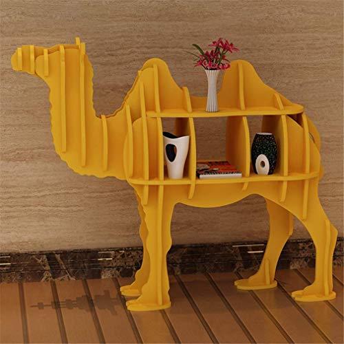 Staande boekenkast opslag display raam rekwisieten creatieve decoratieve ornamenten rood geel wit rood, geel, M Small geel