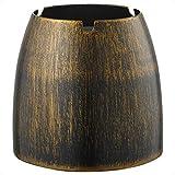 ecooe XL Windaschenbecher Bronze Edelstahl Aschenbecher für Draußen & Innen Groß Metall Tisch Ascher