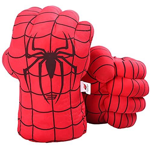 DDGOJUME Big Hulk Smash Hands, 1 par de Guantes de Boxeo Suaves de Hulk, Disfraz de Felpa de puño para niños y Adultos (Red)