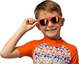 Cressi Rash Guard Short Jr, Maglia Protettiva in Tessuto Elastico con Protezione Solare UV (UPF) 50+ Bambini, Arancio/Aqua Pets 02, 3/4 anni 104 cm