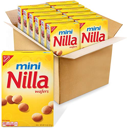 Nilla Wafers Mini Vanilla Wafer Cookies, 12 - 11 Oz Boxes, Vanilla, 12Count