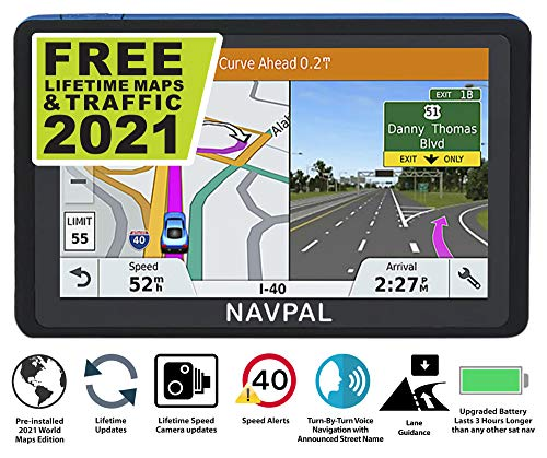 BLUETOOTH SLIMLINE SAT NAV (7 INCH) with UK EUROPE 2021 EDITION + FREE Lifetime Updates [100% no...