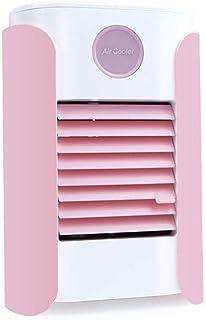 ZGQA-AOC Compacto acondicionador de aire portátil con deshumidificador y ventilador for el espacio personal del refrigerador de aire purificador del humectador del ventilador de escritorio (color: ros