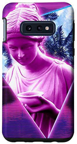 Galaxy S10e Vaporwave Paradise Warp. Aesthetic Retrowave Paradise Statue Case