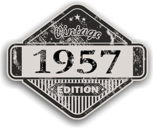 Distressed Aged Vintage 1957Edition Classic Retro Vinyl Auto Motorrad Cafe Racer...