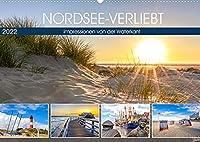 NORDSEE-VERLIEBT (Wandkalender 2022 DIN A2 quer): Impressionen von der Waterkant (Monatskalender, 14 Seiten )