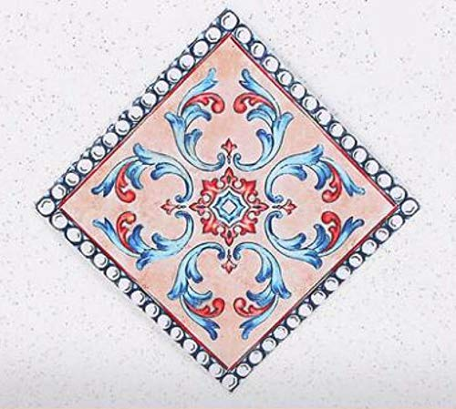 Fliesenaufkleber, Selbstklebende Bodenmosaik Wasserdichte keramische Wandaufkleber Tapete wohnkultur 8X8 cm 20 stücke, A