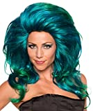 Rubie's Women's Helen wheels Wig, Turquoise, One Size