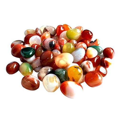WINOMO Pierres de décoration colorées 0,5-1 cm - Arrondies naturelles Riverstones - Pour poissons - Paysage - 500 g