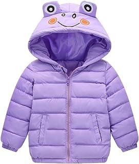 Hmlai Clearance Toddler Kids Baby Boy Girl Winter Hooded Down Coat Lightweight Zipper Warm Thick Jacket Cartoon Outfit
